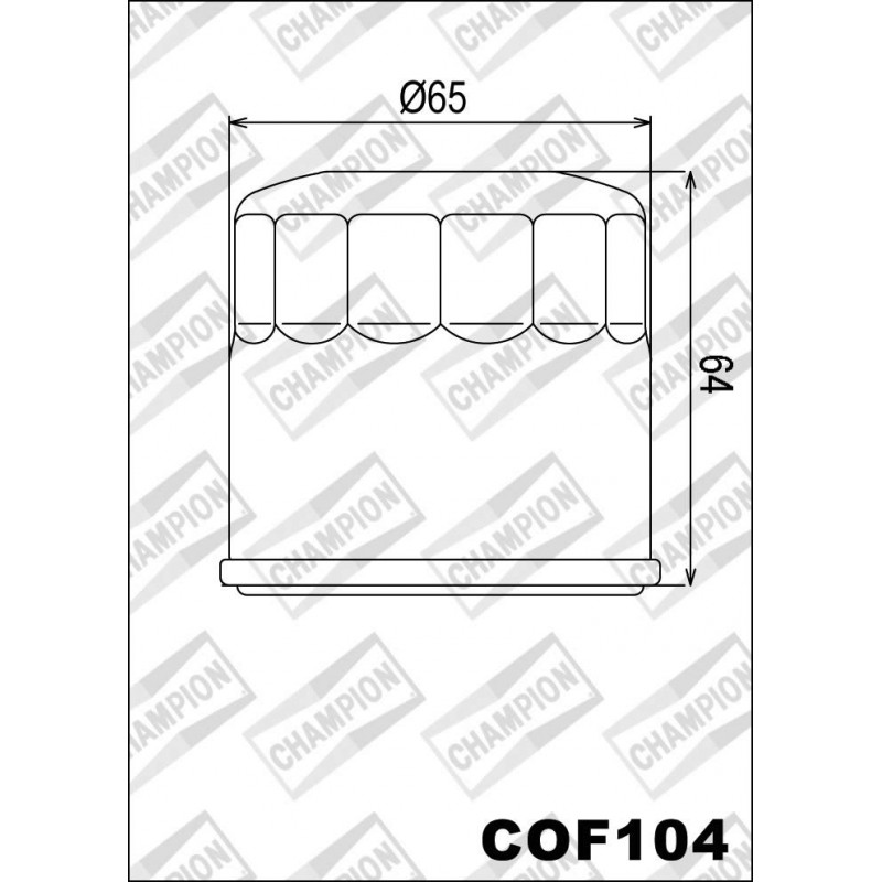 226-COF104 Champion Oil Filter-Various Applications
