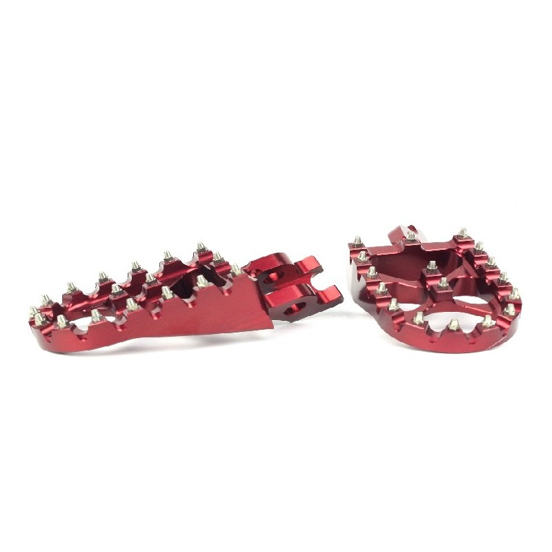 279-MSD791R Wide Alloy Foot Pegs-Red-CR/CRF/X/RX