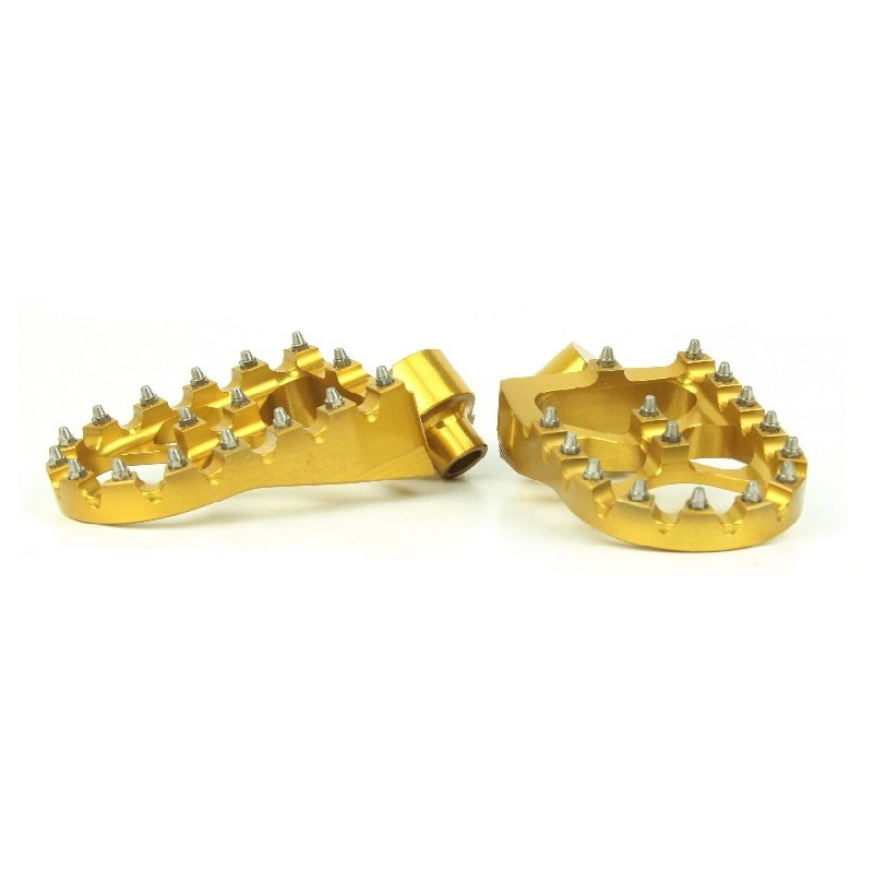 279-MSD793G Wide Alloy Foot Pegs-Gold-Yamaha/Gas Gas